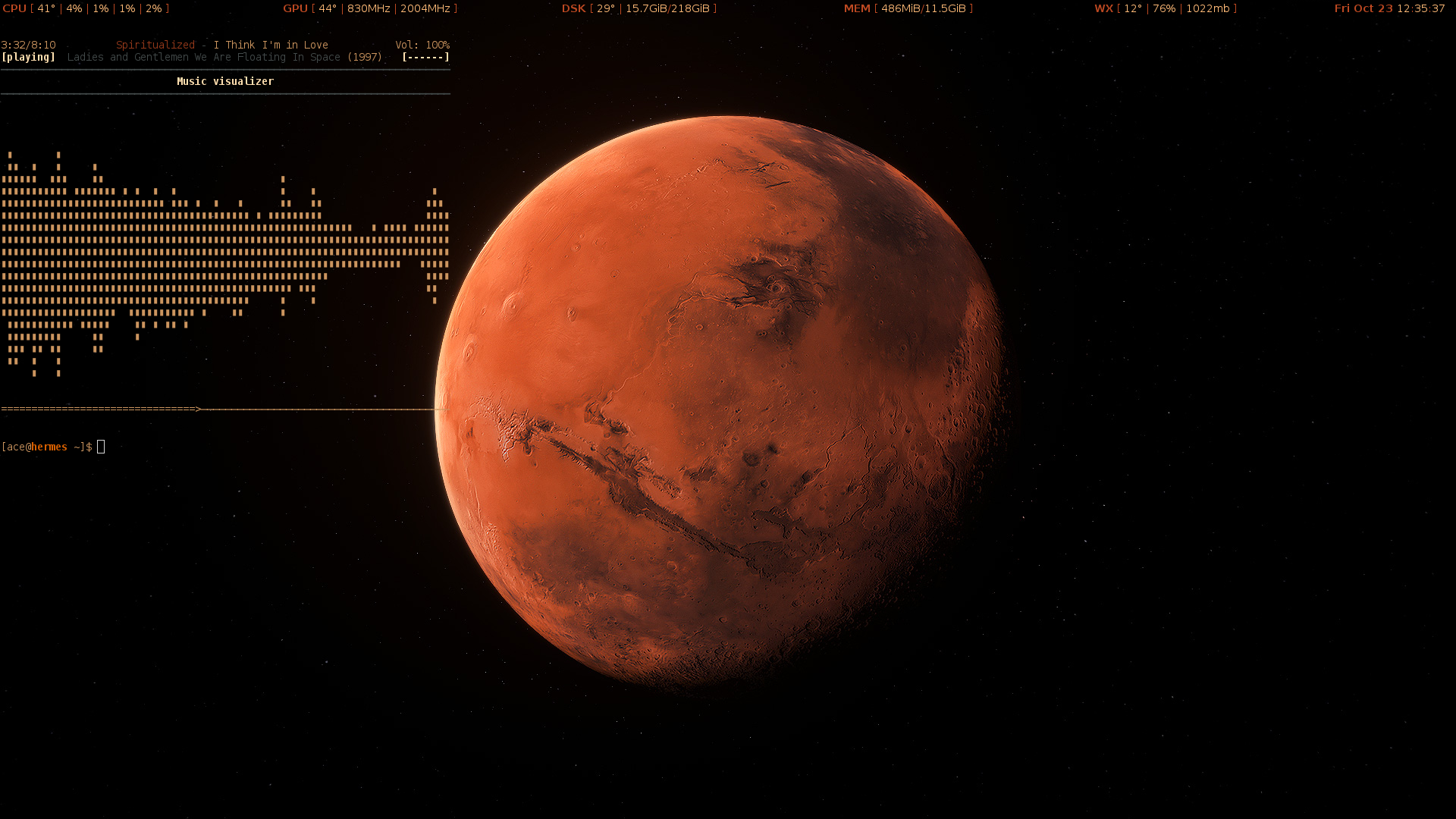 The Mars Approach Desktop