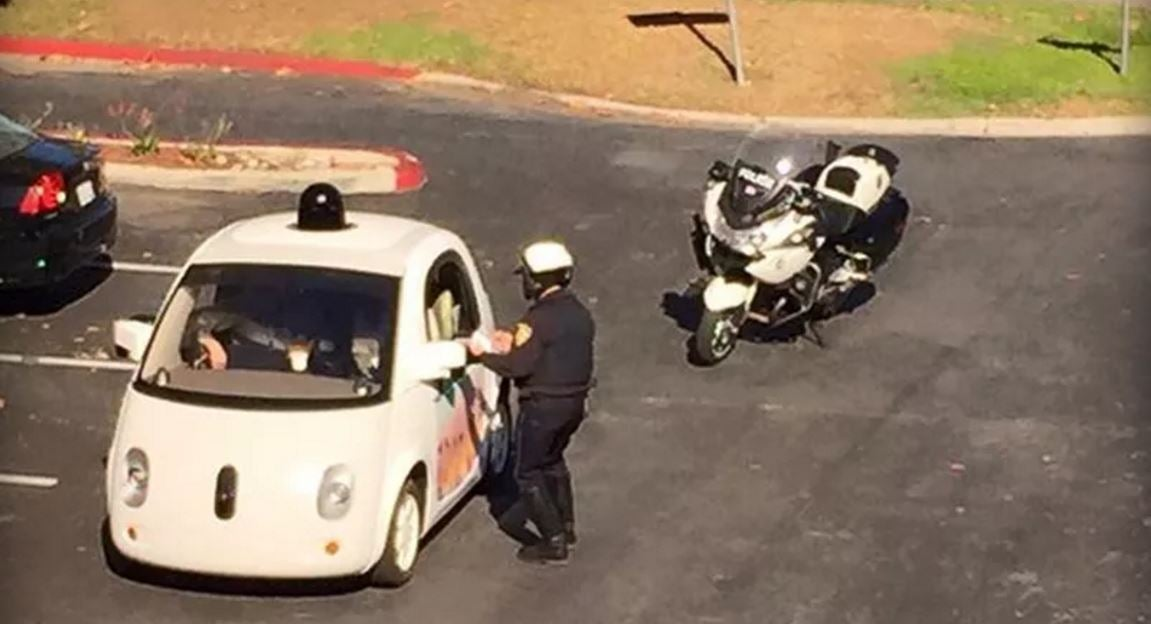 Not Even Google's Self-Driving Car Can Escape the Cops