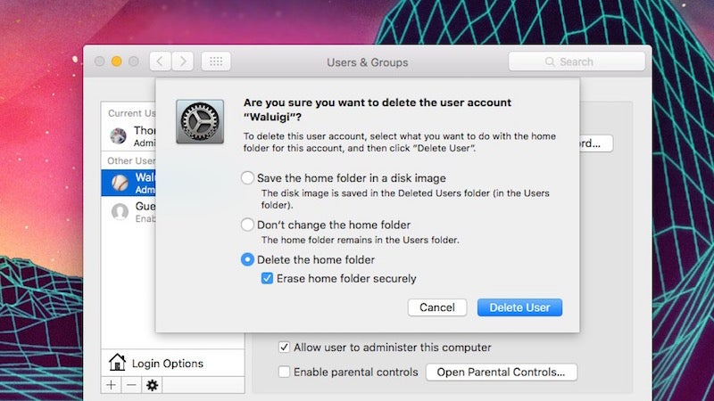 Erase Your Mac's User Folder For A Quick And Dirty Data Wipe