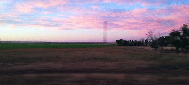Travelling on a train across the entire United States is so picturesque