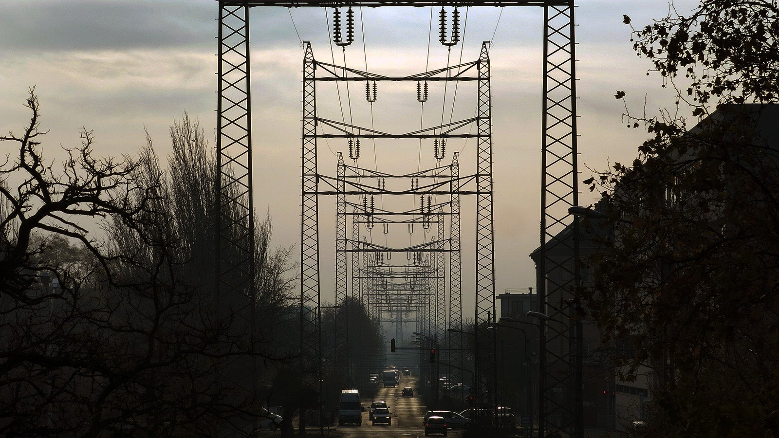 Fearless Engineering: This Street Stretches Out Between Electricity Pylons
