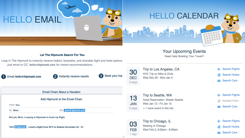 Hello Hipmunk Is a Virtual Travel Assistant, Connects to Your Calendar and Email