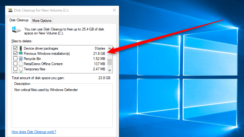 Run Disk Cleanup After the Windows November Update to Save 20GB+ of Space