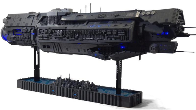 A LEGO Halo Ship That Took Three Years To Build | Kotaku