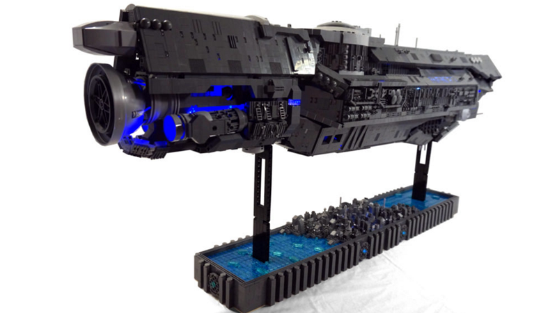 A LEGO Halo Ship That Took Three Years To Build