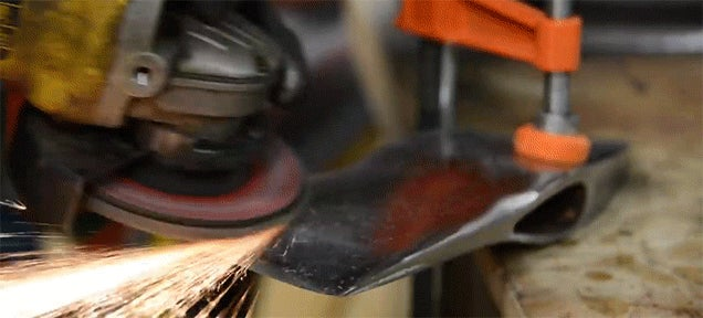 The restoration of a fireman's axe is a really fun process to see