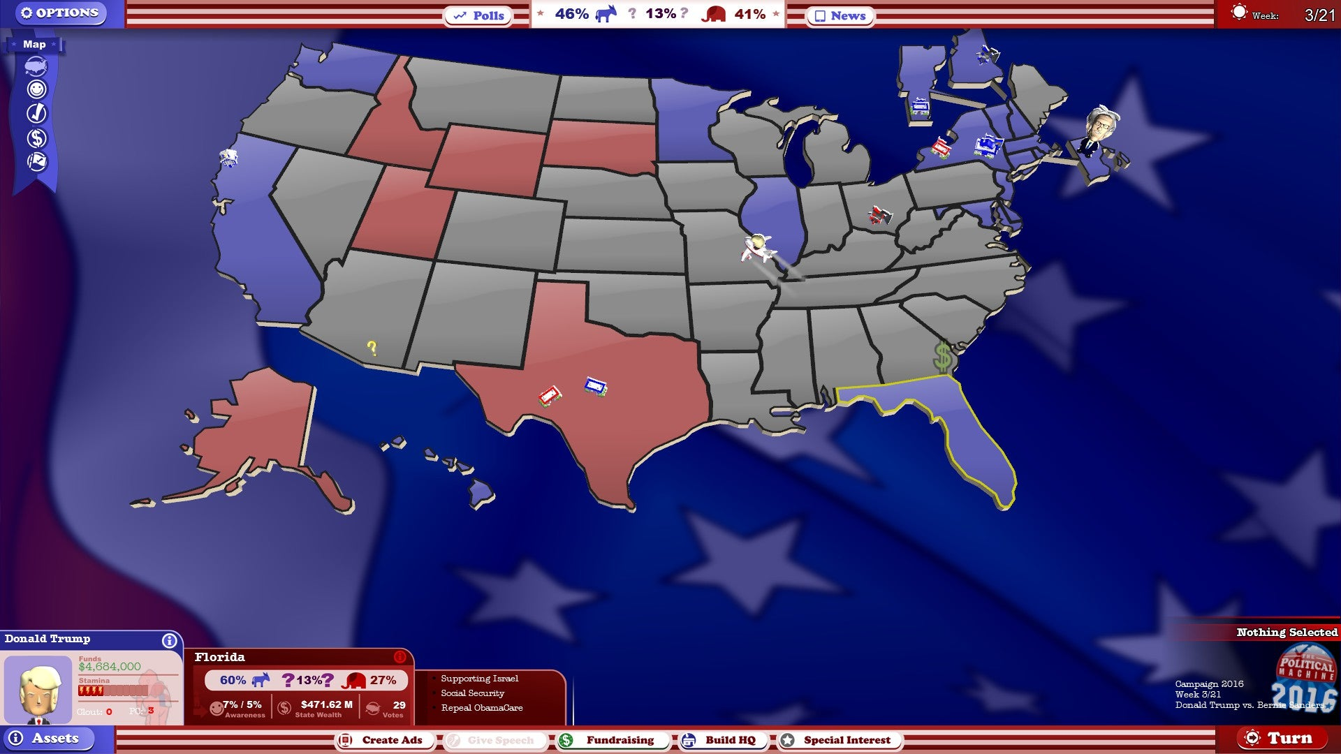 Play A Game About The US Election Kotaku Australia - Us election map game