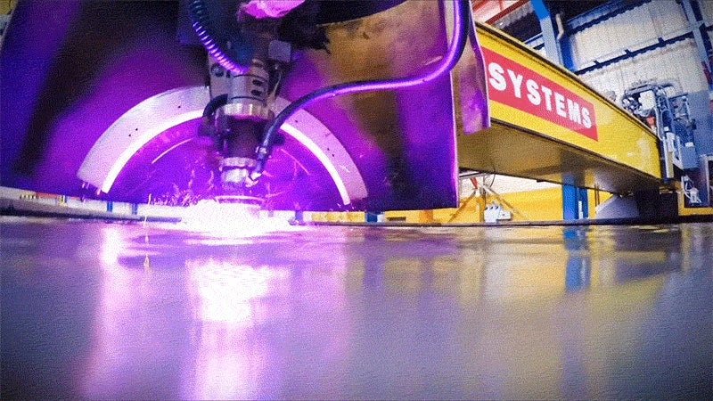 Plasma-Cutting Steel Underwater Is a Wondrous Phase of Shipbuilding
