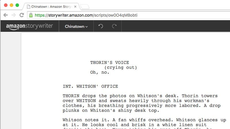 Amazon Storywriter Is a Simple, Free, Auto-formatting Screenwriting Tool for the Web