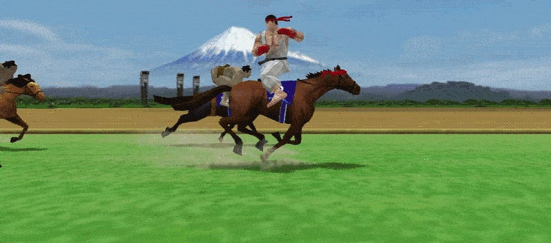 It's Street Fighter Plus Horse Racing