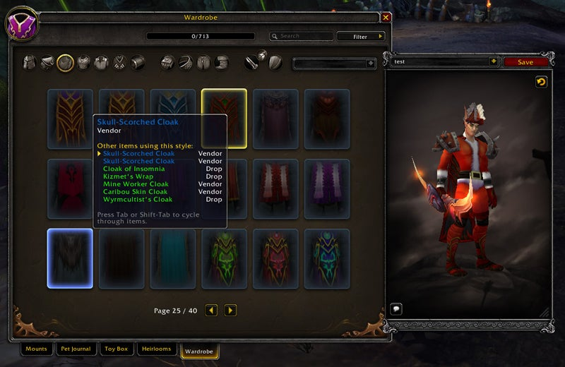 An Early Look At World of Warcraft: Legion's New Wardrobe Feature