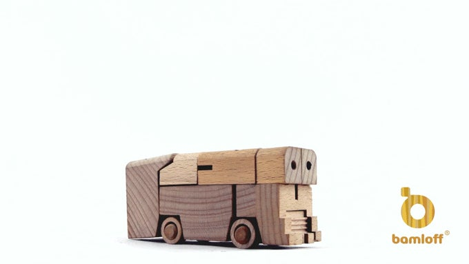 Wooden Block Transformers Are Baby's First Optimus Prime