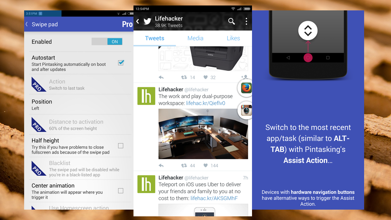 Pintasking Minimizes Any Android App to a Floating Button