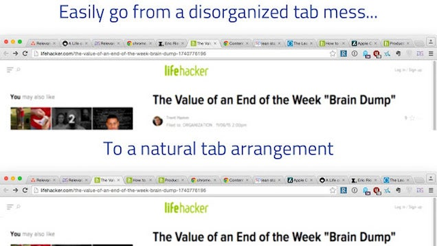 Relevance Reorganises Tabs Based On What You've Read