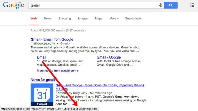 Un fallo en Gmail envía miles de correos a un único usuario de Hotmail