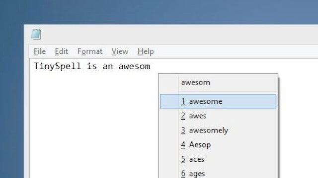 TinySpell Adds Spell-Check to Notepad, Wordpad, and Other Windows Apps
