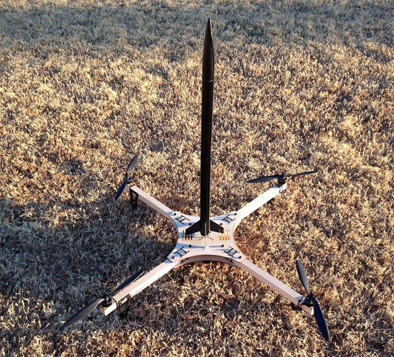 Someone Turned a Quadcopter Into a Flying Missile Launcher