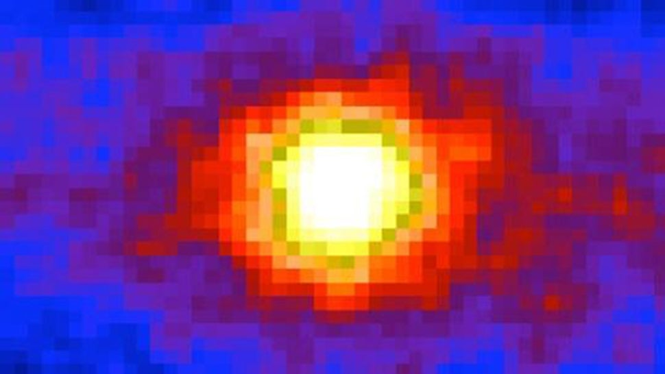 This is how the Sun looks through 8,000 miles of Earth rock