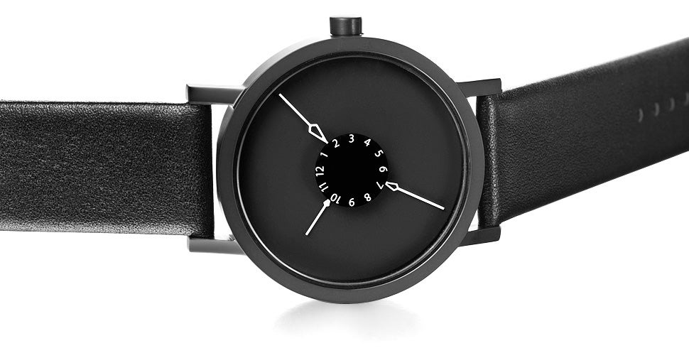 An Unusual Watch Whose Hands Point Inwards