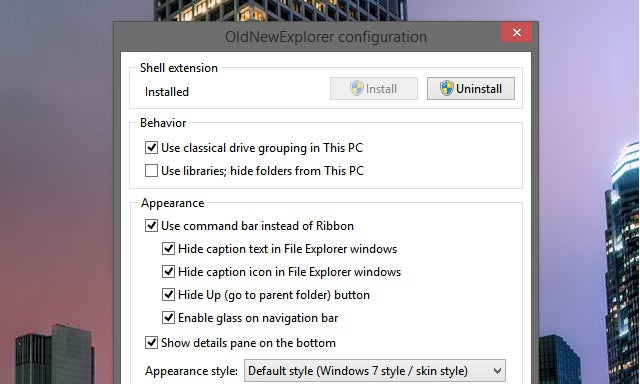 OldNewExplorer Customises Windows Explorer to Be More Like Windows 7