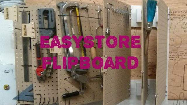 Build A Hinged Pegboard Storage System For Your Workshop