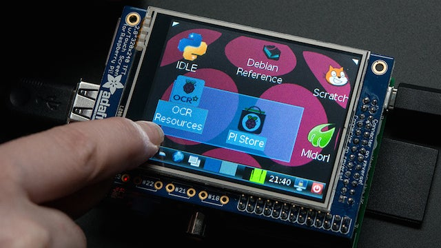 The Adafruit PiTFT Makes Adding a Touchscreen to a Raspberry Pi Easy
