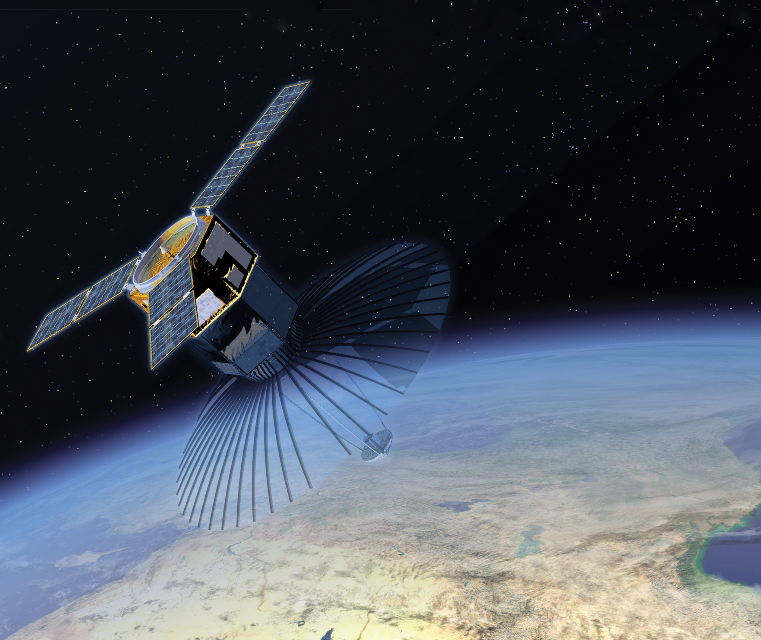 A New Defence Department Satellite Shoots Out Smaller Sats