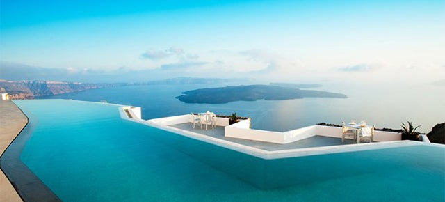 Wouldn't you like to be in one of the most amazing pools in the planet?