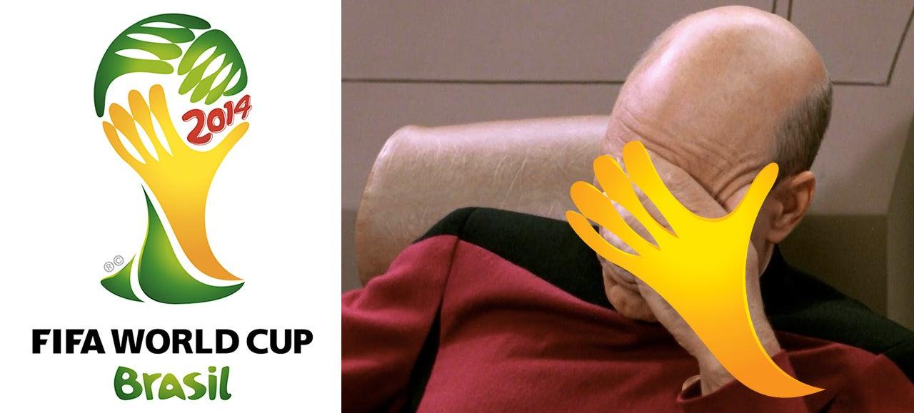 Brazil's World Cup Logo Sure Looks Like Someone Facepalming