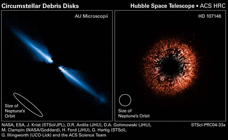 Hubble photos capture the formation of planetary systems