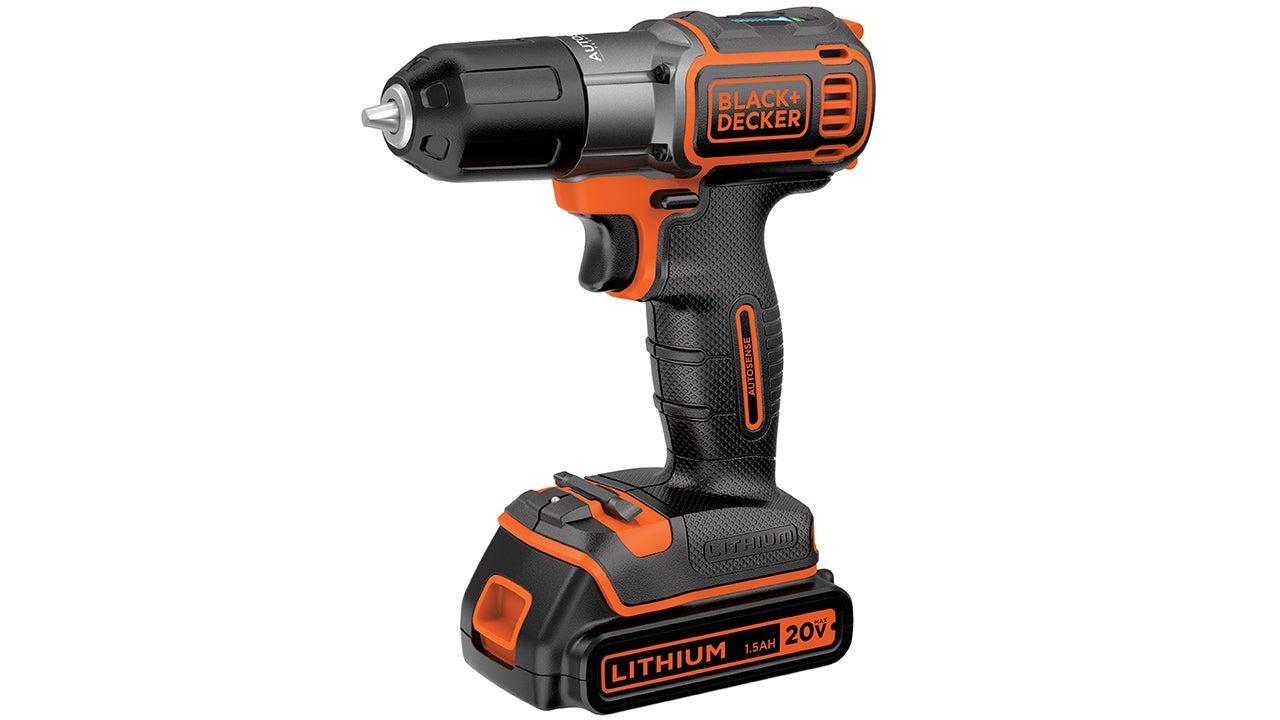 Black+Decker's AutoSense Drill Stops Itself When a Screw Is Flush
