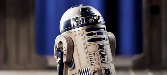 This R2-D2 toy is so detailed that you can use it in the new Star Wars
