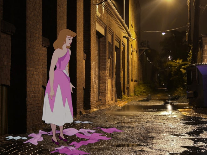 Disturbing illustrations show the real life ending of Disney characters