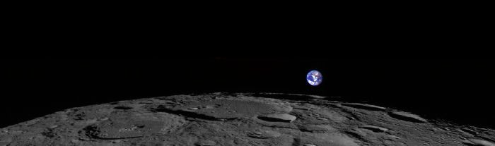 Rare view of Earth rising on the Moon taken by lunar orbiter