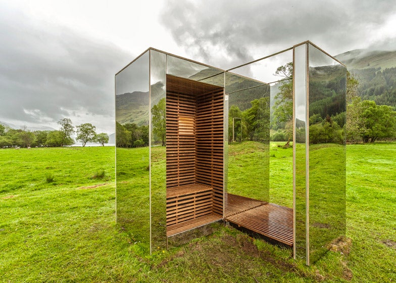 This Lookout Made of Mirrors Can Hide In Plain Sight