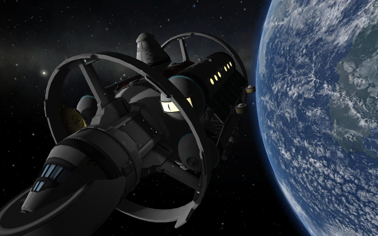 The Kerbal Version Of NASA's Warp Drive Ship Is Just As Cool