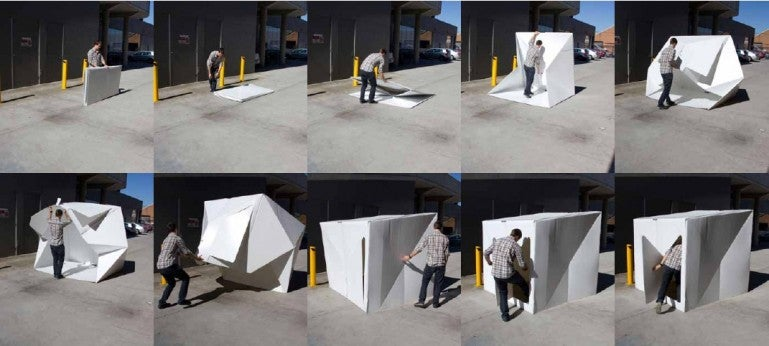 This Origami-Inspired Emergency Shelter Pops Open in Seconds