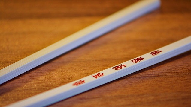 Use Wooden Chopsticks for More Control When Frying Food