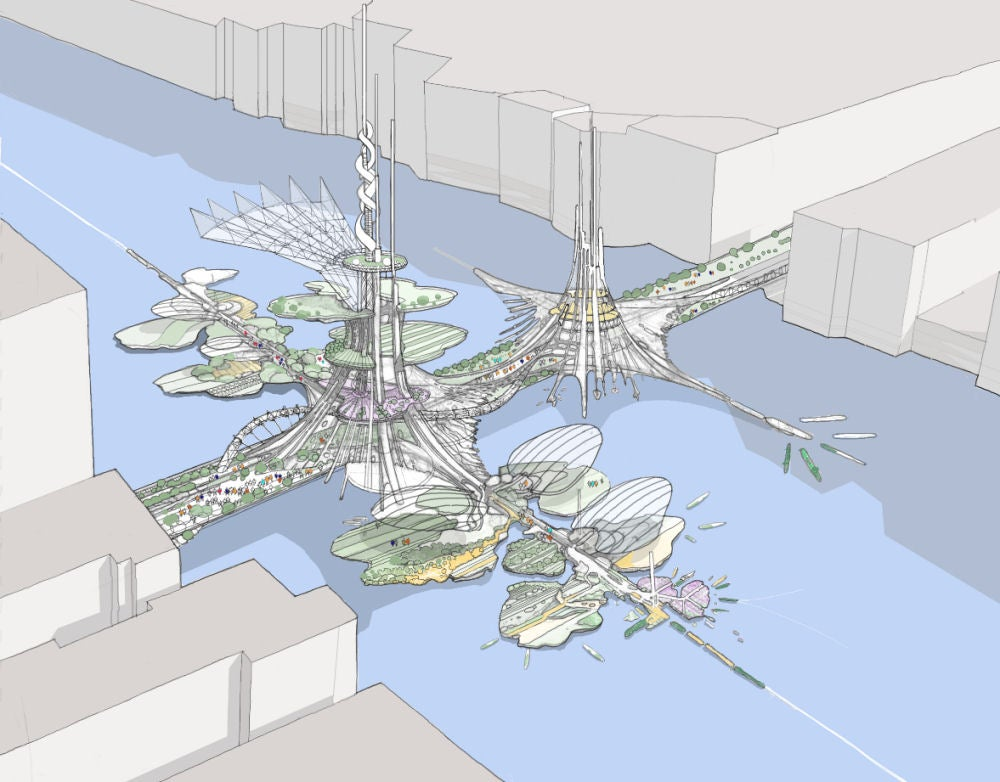 The Insane Plan to Build the World's Tallest Towers in a Lake in China