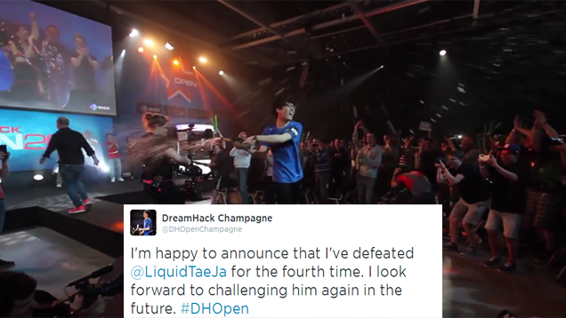 StarCraft Pro Foiled By His Biggest Foe Yet: A Champagne Bottle