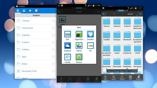 Sign Into Multiple Dropbox Accounts on Android With ES File Explorer