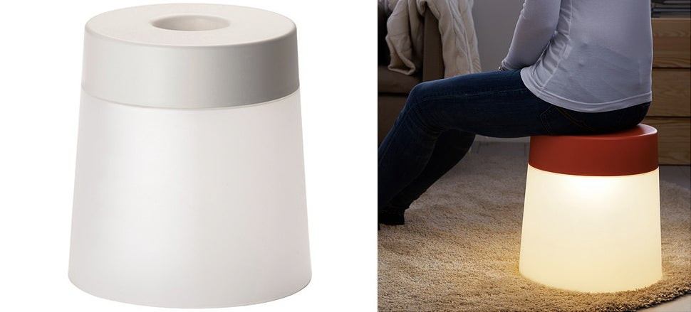 Ikea's New Glowing Stool Lights a Safe LED Fire Under Your Butt