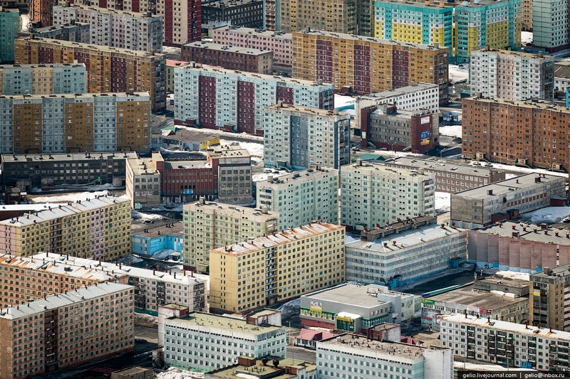 World's northernmost big city is a brutal mosaic of colour and pollution