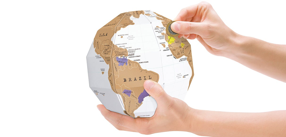 A Scratch-Off Globe Helps Keep Track Of Your Country-Hopping
