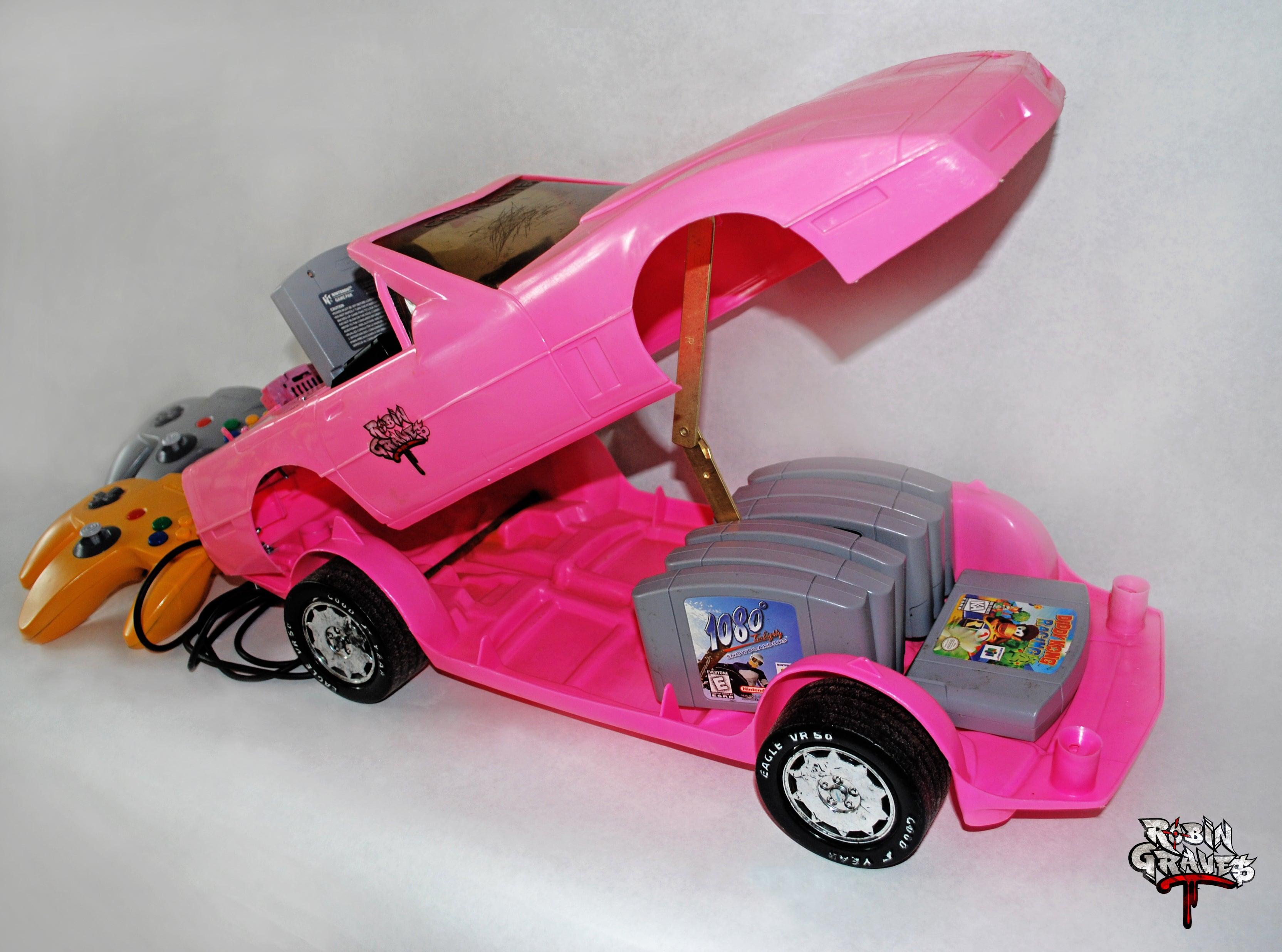 Guy Turns Nintendo 64 Into Hot Pink Barbie Corvette