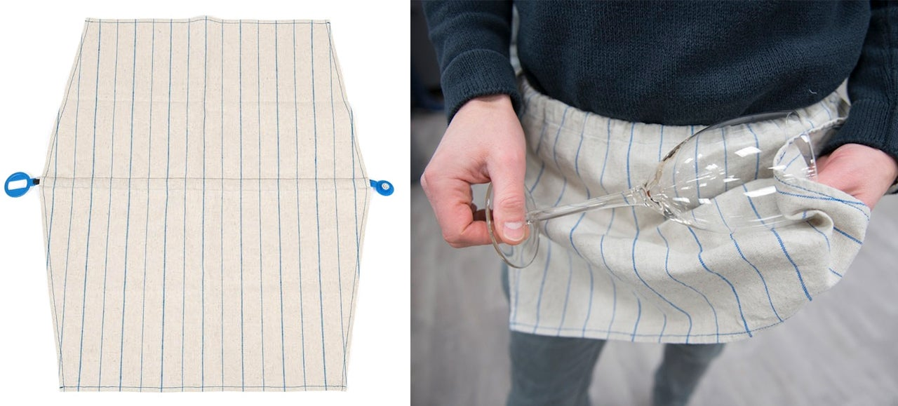 A Hidden Strap Turns This Tea Towel Into a Kitchen Apron