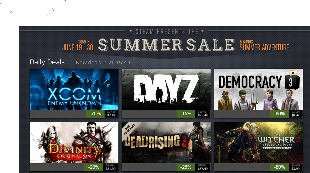 The Internet Reacts To The Steam Summer Sale