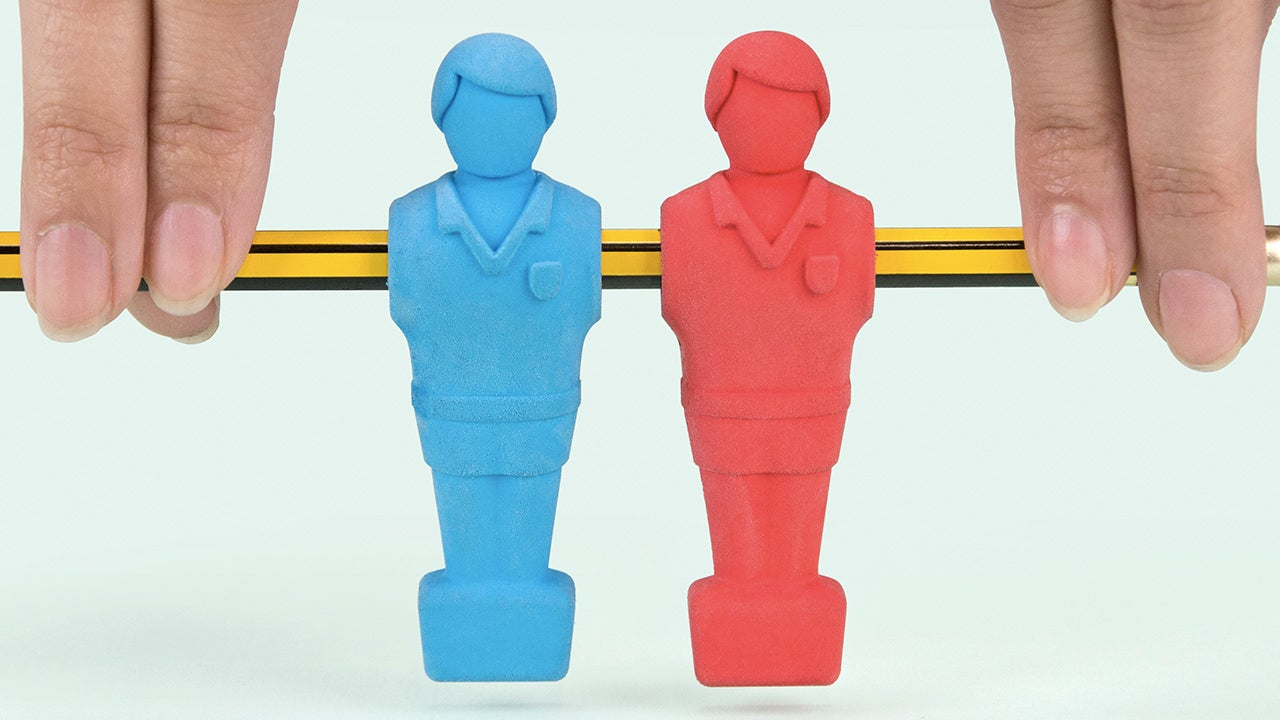 Forget the Table, All You Need For a Foosball Game Are These Erasers