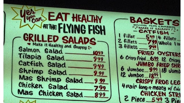Don't Get Fooled into Avoiding Healthy Sections of Restaurant Menus