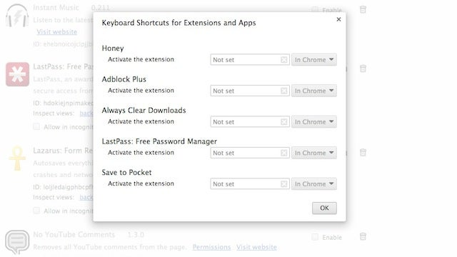 Add Custom Keyboard Shortcuts to Chrome Extensions for Quick Launching